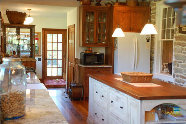 1800's Farmhouse Kitchen Remodel - Traditional - Kitchen - DC Metro - by Shenandoah Furniture ...