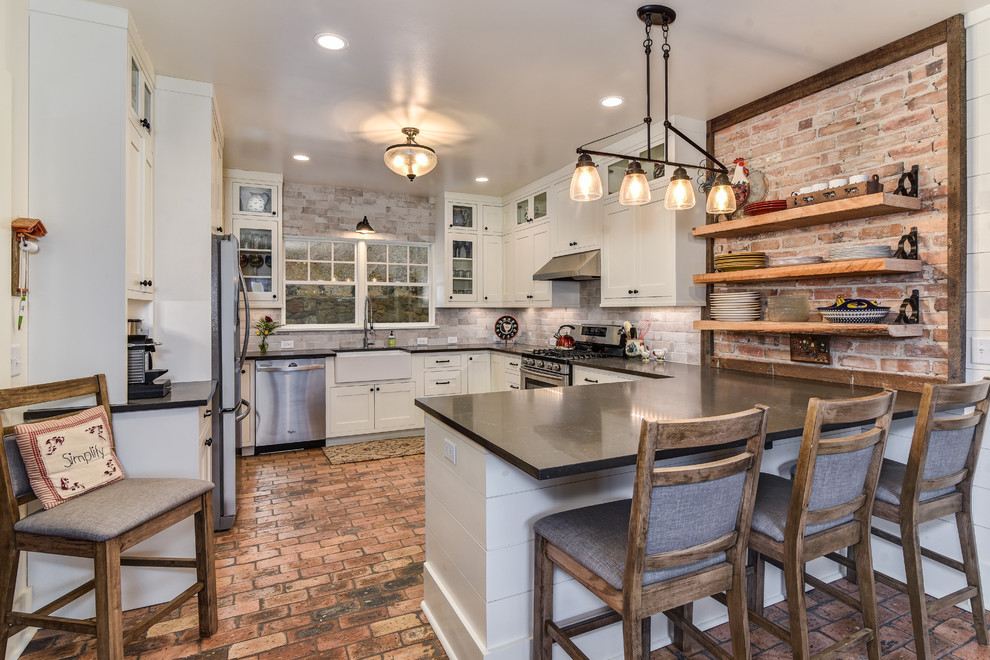 1800s Farmhouse Full Renovation Addition Farmhouse Kitchen Other By Id Ology Interiors Design