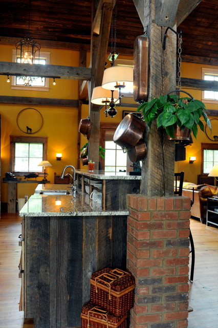1830's Timber Frame Conversion - Historic Flooring traditional-kitchen