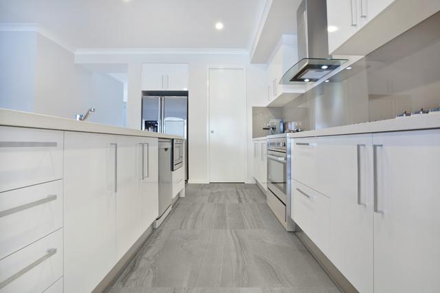 18x36 Amelia Smoke Floor Tile Modern Kitchen New York By