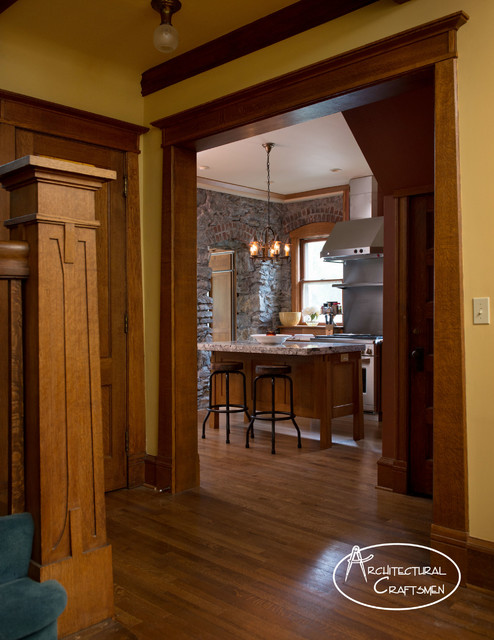 Inspiration for a rustic kitchen remodel in Kansas City