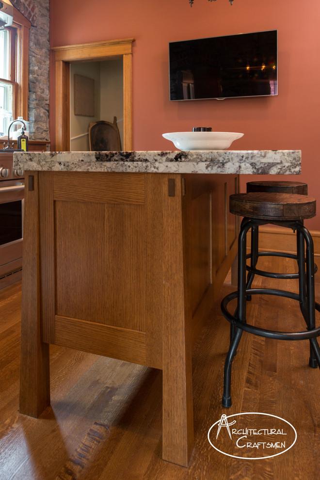 Kitchen - rustic kitchen idea in Kansas City