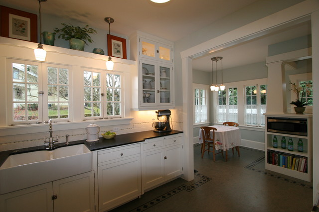 1907 Airplane Bungalow - Craftsman - Kitchen - Portland ...