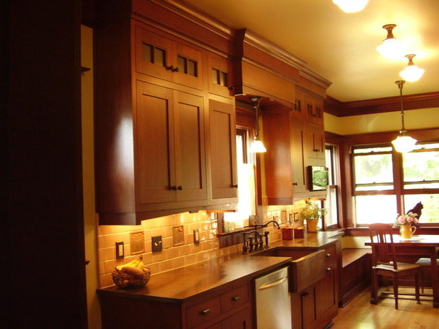 1910 arts and crafts home in s e portland oregon traditional kitchen portland by - Kitchen designers portland oregon ...