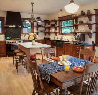 1910 Foursquare Kitchen Craftsman Kitchen Portland