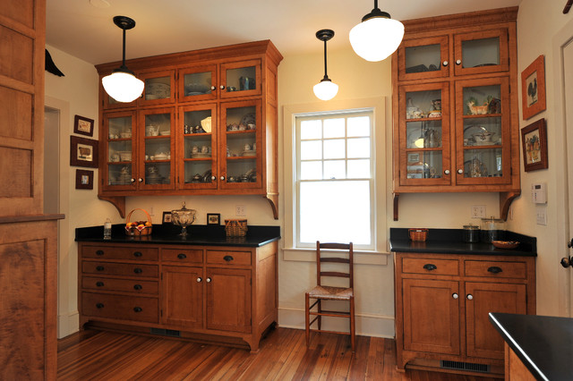 1915 Colonial Revival Addition Traditional Kitchen