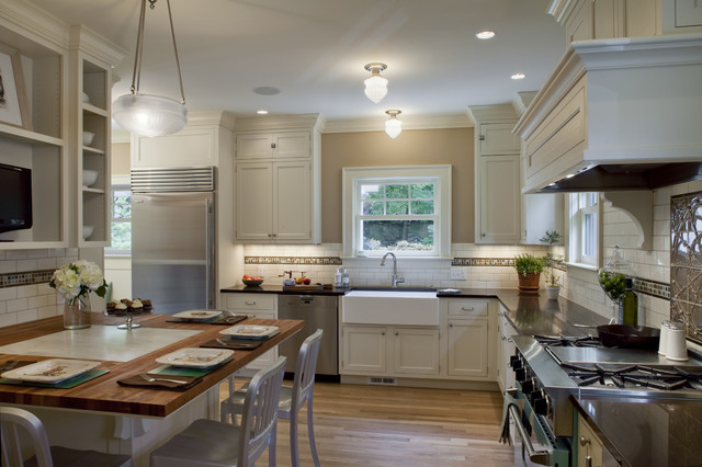 1920 colonial kitchen traditional kitchen portland by craftsman design and renovation Kitchen design colonial home