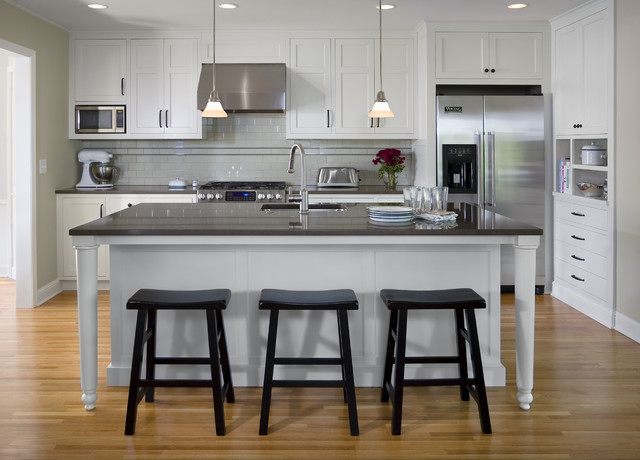 1940 39 s colonial revival remodel kitchen traditional for Colonial revival kitchen design