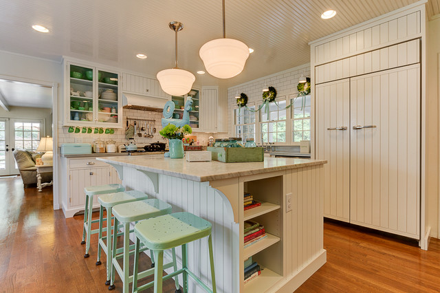 1940s Farmhouse In The City Shabby chic Style Kitchen Columbus