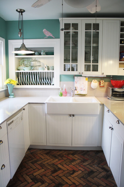 1950s Style Kitchen 1950's cottage kitchen - farmhouse - kitchen - austin -spark