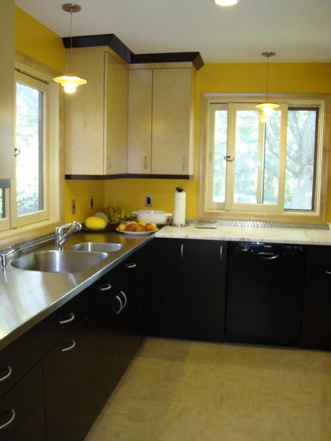 1950's Ranch House Kitchen Remodel midcentury-kitchen