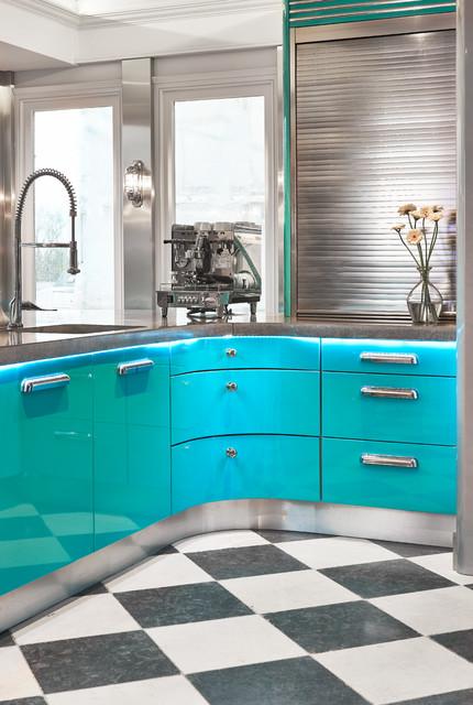 1950s American Diner-style kitchen - Modern - Küche ...