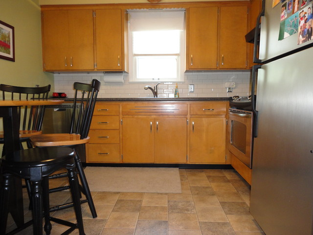 1950s Millwood Kitchen Update Traditional Kitchen