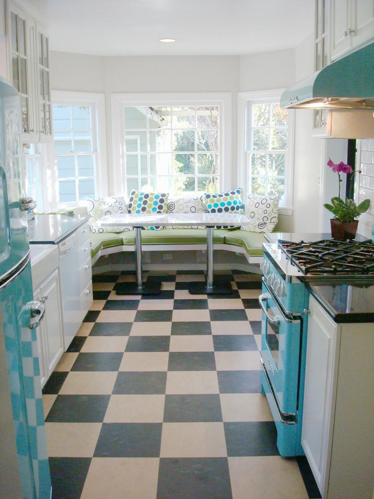 1950s Retro Chill Aqua Kitchen - Eclectic - Kitchen - Los ...