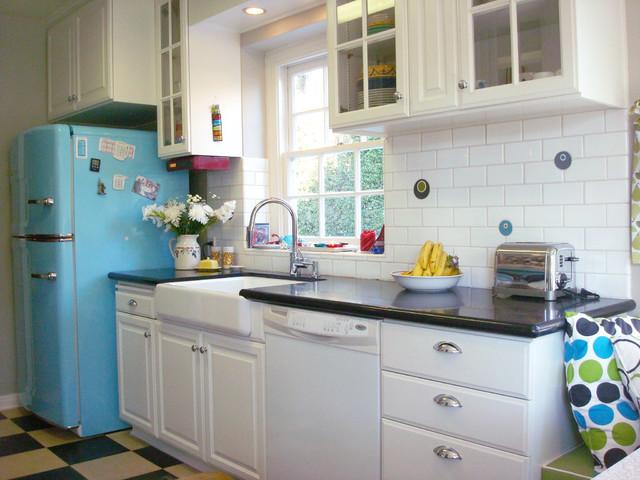 1950s Retro Chill Aqua Kitchen Eclectic Kitchen Los Angeles – Retro Kitchen Tile
