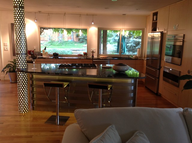 1970 39 s house renovation contemporary kitchen denver for 1970s house renovation