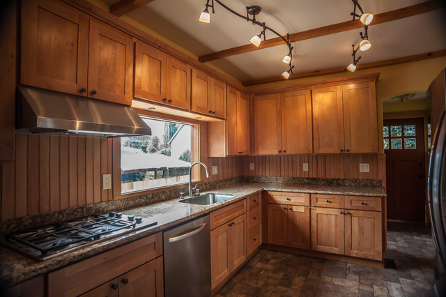 1L Natural Maple Shaker Kitchen Cabinets - Contemporary - Kitchen - san francisco - by Glenn ...