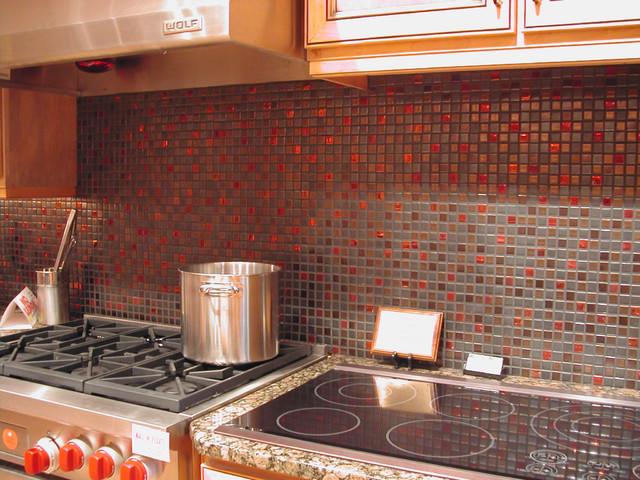 1x1 Mosaic Backsplash Eclectic Kitchen Portland By