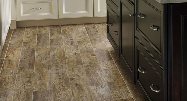 $2.95SF Redwood Natural 6x36 Wood Plank Hand Scraped Porcelain Tile  traditional-kitchen - $2.95SF Redwood Natural 6x36 Wood Plank Hand Scraped Porcelain