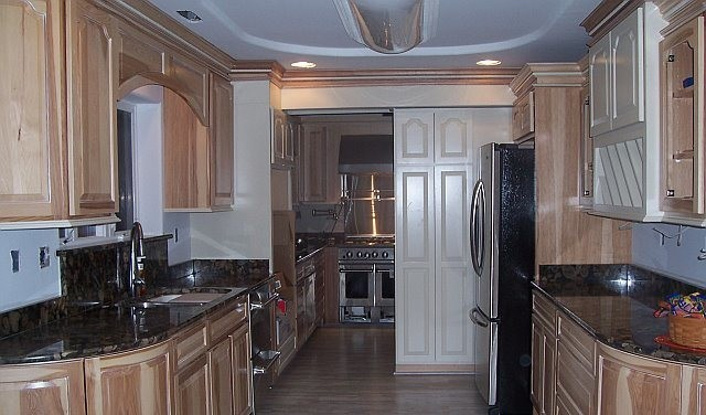 2 Kitchens In 1 Small Galley Kitchen Dc Metro By Creative Karpet Kitchen Designs Inc