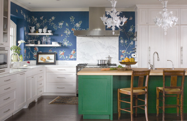 contemporary kitchen by O Interior Design  Pantone Color of 2013: Emerald Decorations contemporary kitchen