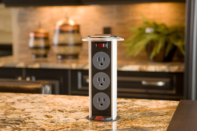 2010 Dream Home Pop Up Electrical Outlet Traditional Kitchen Toronto By Casey S Houzz Au