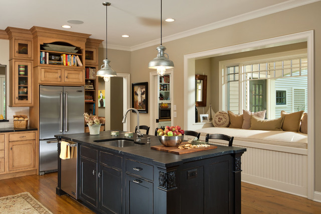 2012 showcase of homes granite street traditional - Putty colored kitchen cabinets ...