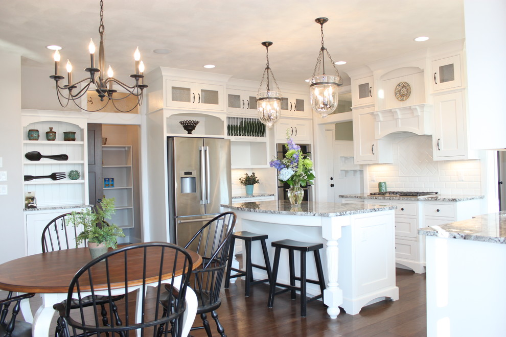 Inspiration for a timeless kitchen remodel in Other with granite countertops