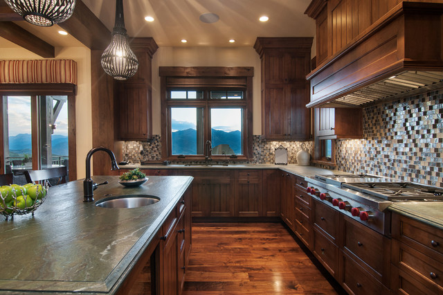 2013 park city showcase of homes by utah home builder for Rustic lake house kitchens