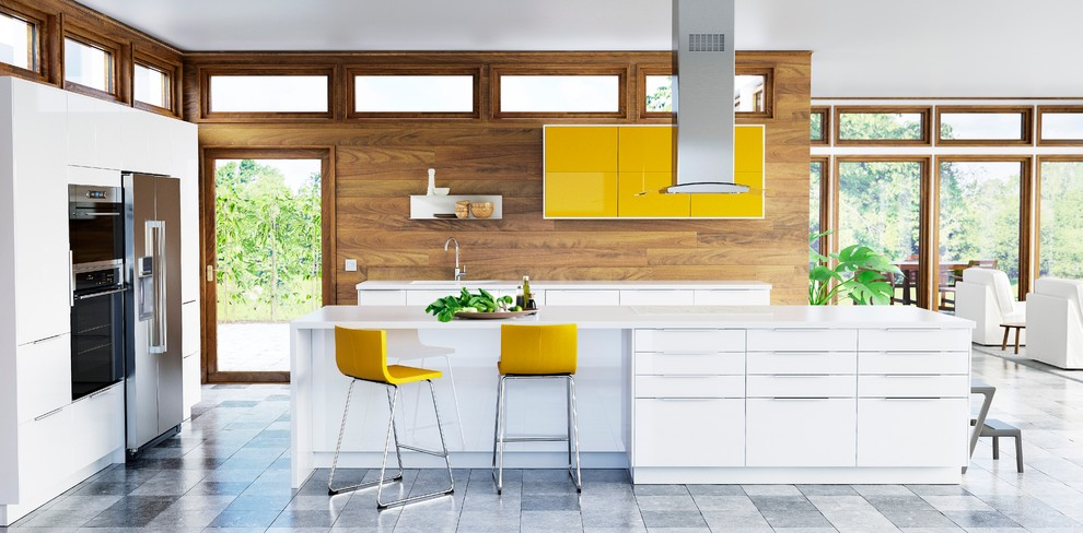 Example of a kitchen design in Other