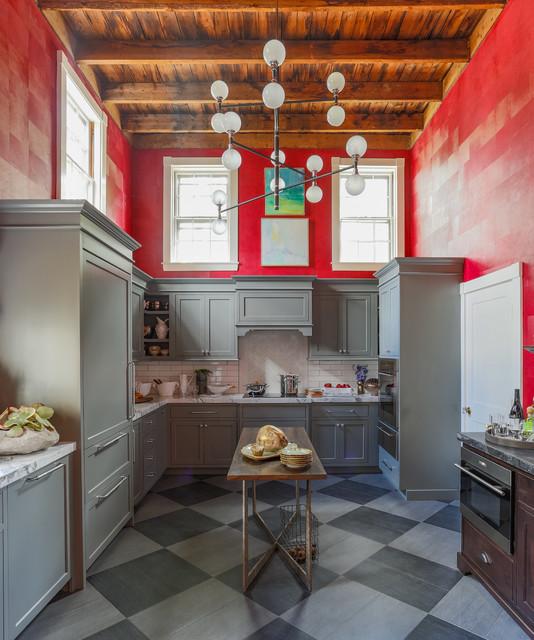 2016 Boston Junior League Show House Kitchen Eclectic