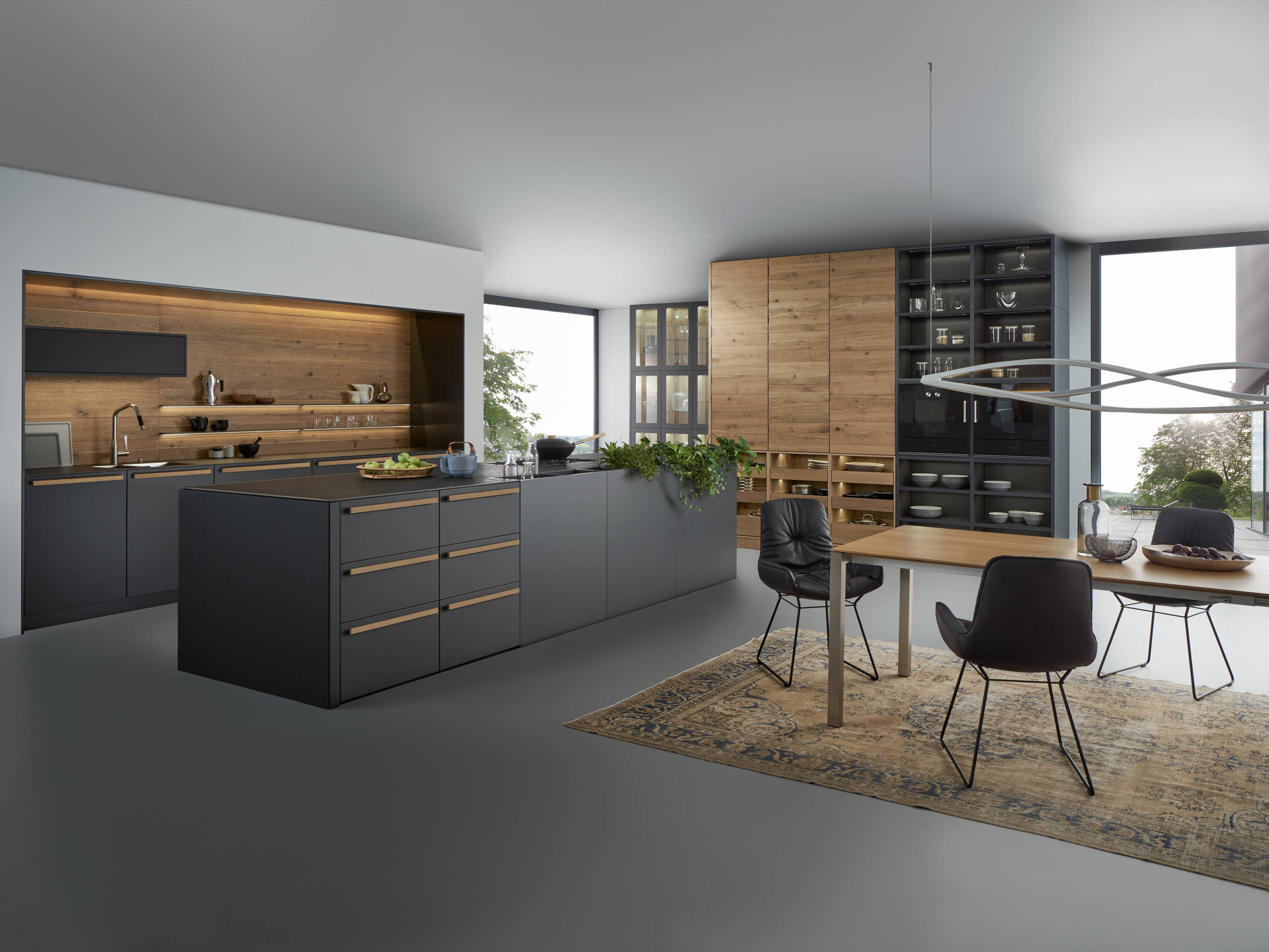 Modern Black Kitchen Pictures Ideas