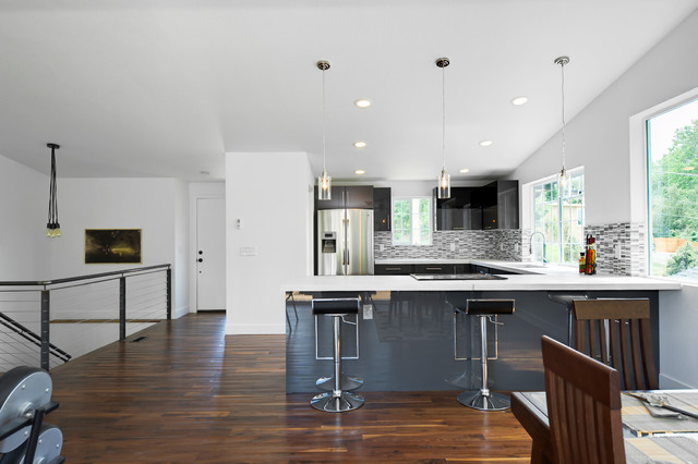 20th House Remodel and Gut contemporary-kitchen
