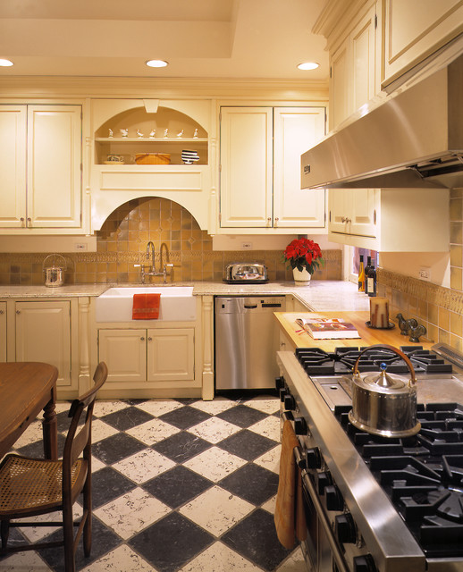 285 Central Park West traditional-kitchen