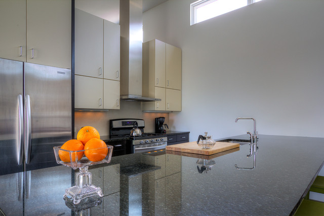 3 homes on a County Courthouse Square modern-kitchen