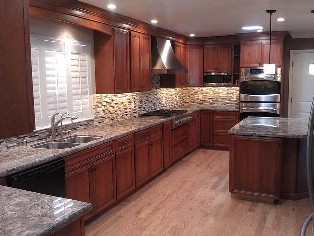 3 san jose dynasty cherry kitchen by signature kitchen bath design traditional kitchen. Black Bedroom Furniture Sets. Home Design Ideas