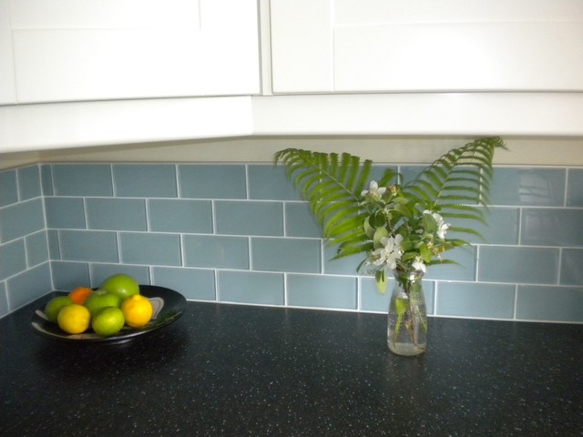 3 X 6 Jasper Blue Gl Subway Tile Kitchen Backsplash