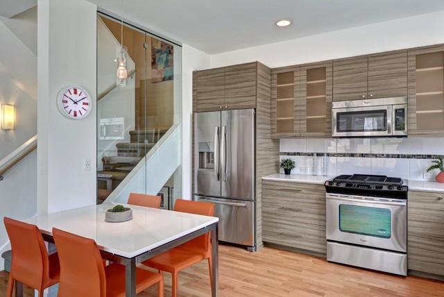 3003 S Judkins Street Townhouse - Contemporary - Kitchen - Seattle Caron Kitchen Cabinets Ct on