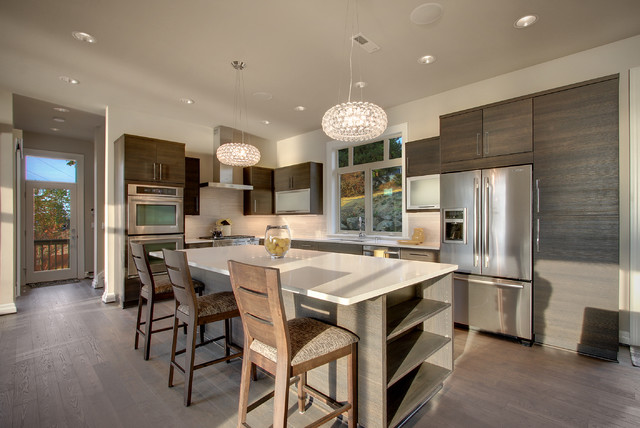 Lake Washington, Seattle Wa contemporary-kitchen