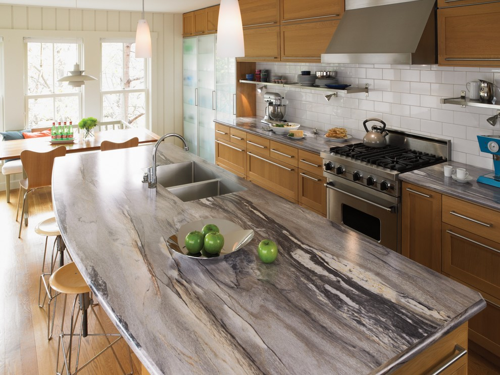 Inspiration for a galley eat-in kitchen remodel in Cincinnati with laminate countertops