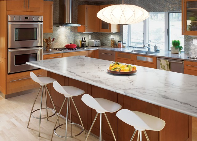 3460 Calacatta Marble 180fx® with Ogee IdealEdge™ - Kitchen - cincinnati - by Formica Group