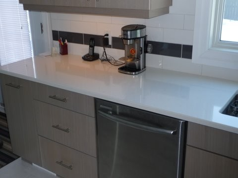 3cm Organic White Caesarstone Coutner tops By River City ...