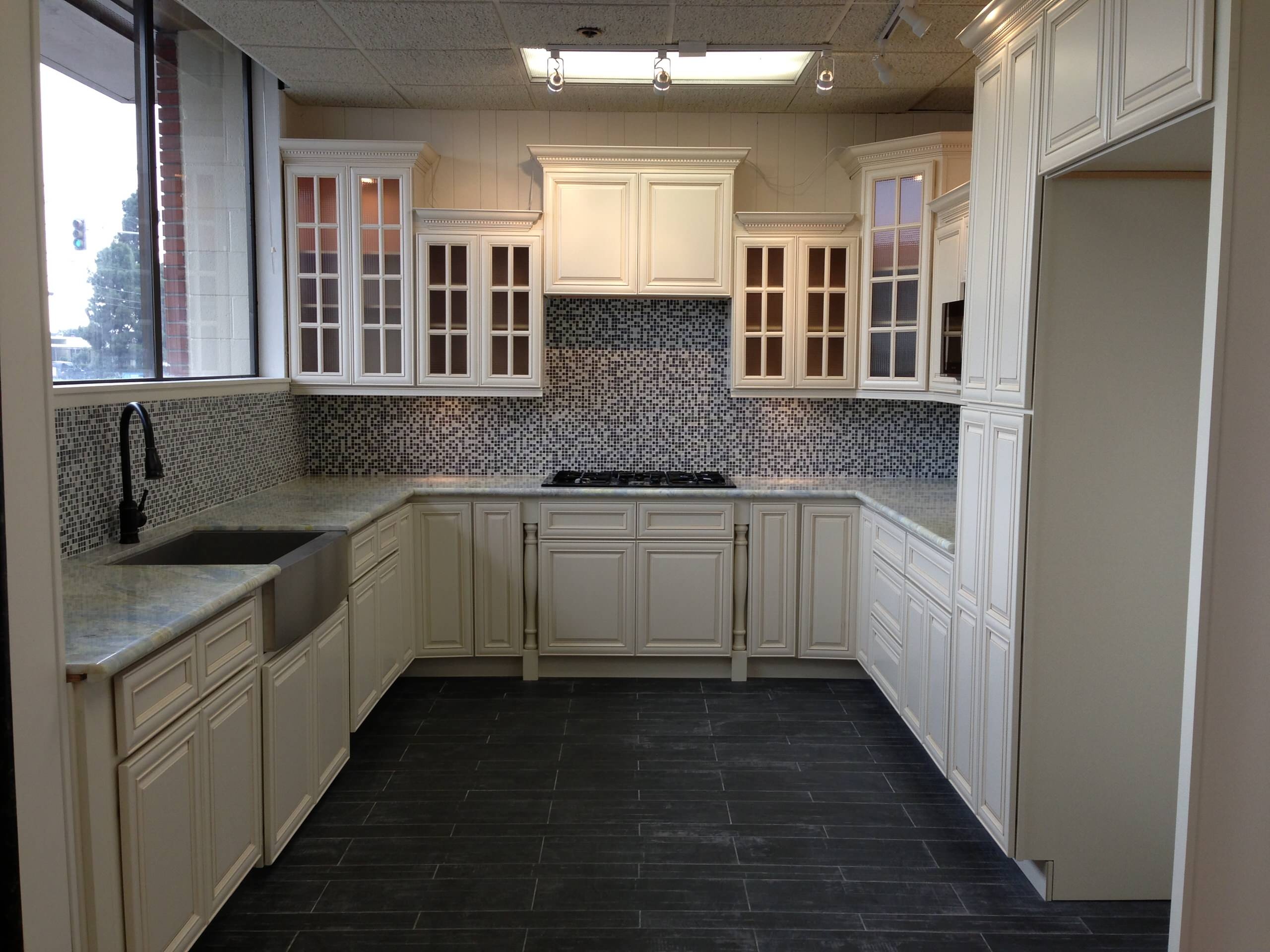 White Glazed Cabinets Houzz