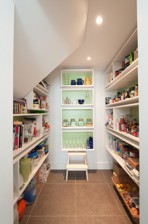 6 Space Saving Tricks To Hide A Stepladder In Your Kitchen