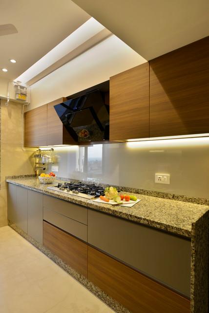 4 Bedroom Apartment In Mumbai Contemporary Kitchen