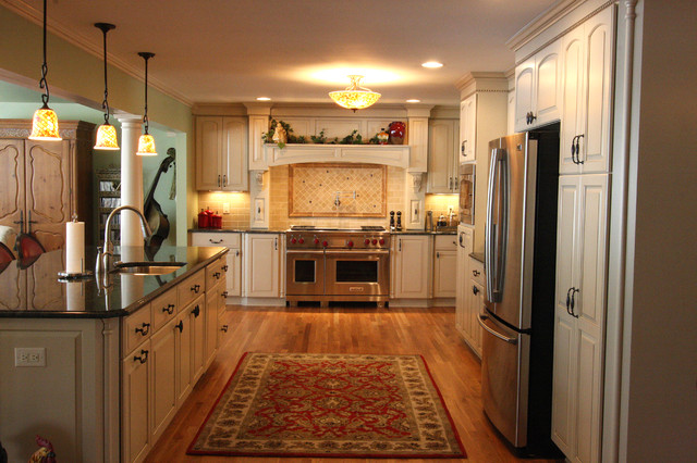 French Provincial Kitchen Remodel traditional-bathroom