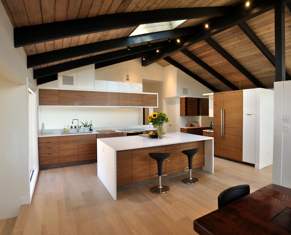 49th parallel home remodel  transitional  kitchen  san