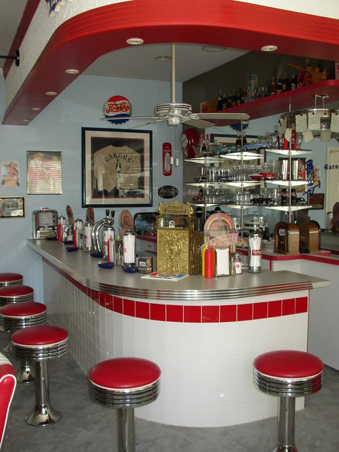 50s Soda Fountain Bar - Eclectic - Kitchen - los angeles - by DC Mitchell Design & Construction