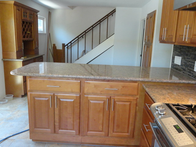 5D Honey Maple Arched door Kitchen - Traditional - Kitchen Cabinetry - san francisco - by Glenn ...