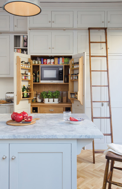 West London Victorian Town House American Traditional Kitchen